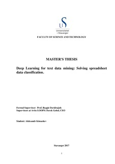 master s thesis deep learning for text