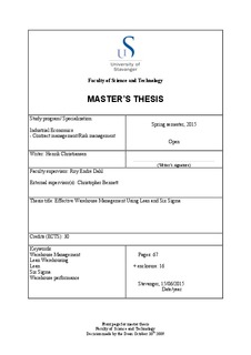 six sigma theory pdf
